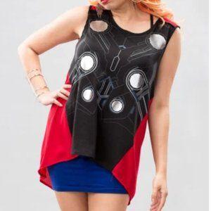 Marvel Thor Graphic Tank Top Chiffon Back XXL